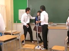 A Glorious Gangbang For Cute Japan School Chick