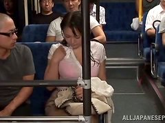 Hot Japanese babe getting nailed in mysterious ways