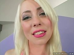 Pretty Lorelei Lee gets her ass drilled and filled with cum