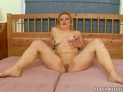 Mature Whore Madge Sticks Her Fist Up Her Gowl