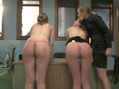 Absolutely stunning dominatrix with strap on and spanking