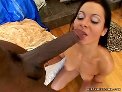 Huge Black Penis Banging MILF Sandra Romain's Experienced Cunt