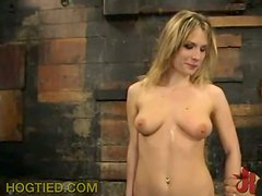 Blonde has some sex adventure in the basement