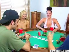 After Strip Poker The Ladies Lap Up The Lizard