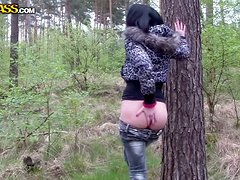 Hot amateur European girl gets it hard in the park