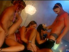 Masked Men Fucking The Beautiful Sabrina Sweet and Simony Diamond