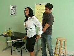 Beautiful Busty Brunette Teacher Fucking Hard With Anal