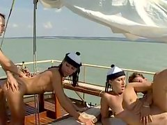Bodacious Babes Bonking On A Boat