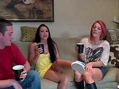 Hot Group Sex Party With Drunk Banging Action