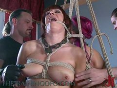 A Group Of Buck Naked Sluts Are Punished And Dominated
