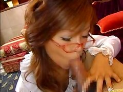Beautiful Asian Secretary Sucking Cock and Getting Fucked In the Office