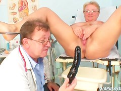 Anal temperature and toy fucking