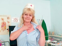 Nurse with naughty fuck hole