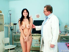 Busty young patient needs exam
