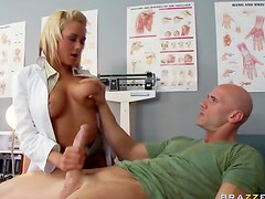 Lusty big tits doctor nailed