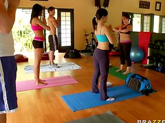 Yoga becomes blistering hot sex