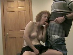 Amateur Mature Wife Blows Cock And Gets Facial !