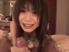 Hotel room with asian teen