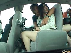 Naughty Asian Babe Gets Her Pussy Fingered In a Bus