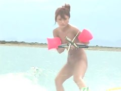 Hot Asian Babes Nude Waterskiing