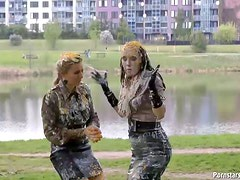 Eurobabes Have A Messy Picnic