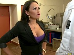 Employees Give a Hardcore Fucking to Boss Claudia Valentine's Asshole