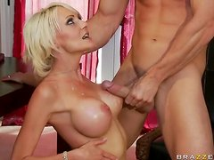 Having Sex In The Kitchen with Big Breasted Blonde MILF Torrey Pines