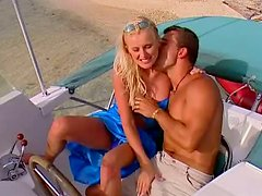 Blonde Beauty Sandra Russo Giving Head and Fucking On the Beach
