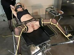 Hot Blonde Is Tied Up And Forced To Fuck