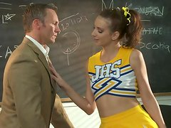 Cheerleader Katie Jordin Always Gets What She Wants With Blowjobs