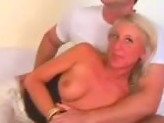 Blonde Beauty Fucked by Baseball Bat and Her Own Fist