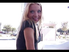 Blonde Chick Gets All Over You And Your Camera!