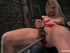 Hot Blonde's Fucked By Machines Beyond Words