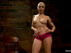 Hot Blonde Mistre Teaches You How to Be A Slave