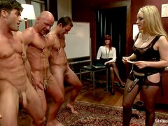 Blonde Mistress Fucks Slaved With Her New Strapon