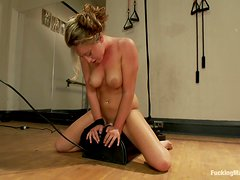 Nice erotic ride on her sybian