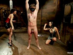 Hot Mistresses Have Fun With A Very Submissive Slave