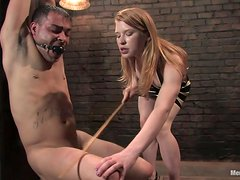 Bondage Threesome With Two Kinky Blonde Babes