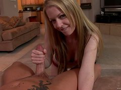 Beautiful Amateur Chick Handjobs in POV for Facial