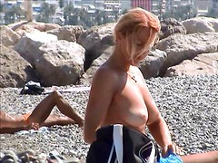 Incredible french girl topless french riviera