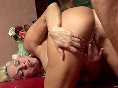 Blond Mature Amateur with Big Tits Gets Fucked Hard