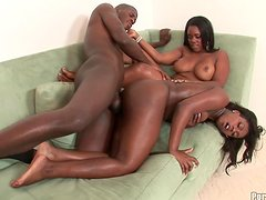 An Amazing Time For A Black Guy With Hot Ebony Hotties