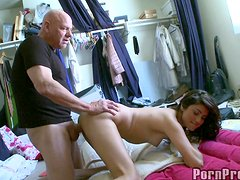 A Rough Scene For Danni Dillon With A Big Old Cock