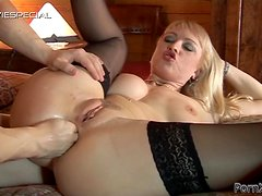 Kinky Blonde Gets Some Action With A Hard Cock