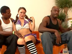 A Breat Thaking Interracial Threesome For Kaci Starr