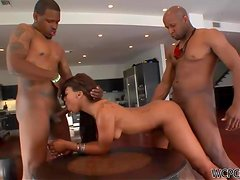 Leilani Leeane Gets A Double Dose Of Monster Cock In A Threesome