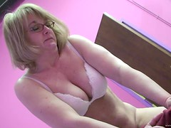 Sybian Pleasure For A Kinky Mature Blonde