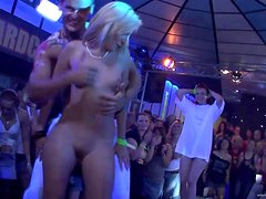 Sexy Ladies Have Fun In A Party Clip With Strippers