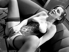 A Black And White Solo Video With Horny Babe
