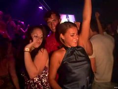 Dance Floor Groove With Sexy College Students